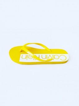 Calvin Klein Logo Yellow...