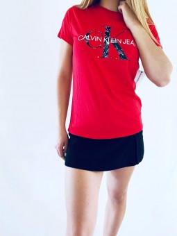 Calvin Klein Jeans Logo Red...