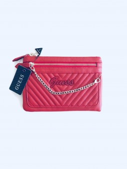 Guess V-Quilted Red luxusní...
